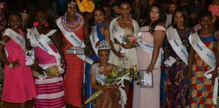 Miss Africa Bergen contestants 2015 African associations in Bergen